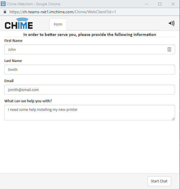 How routing works for employees using Chime for Microsoft Teams service desk